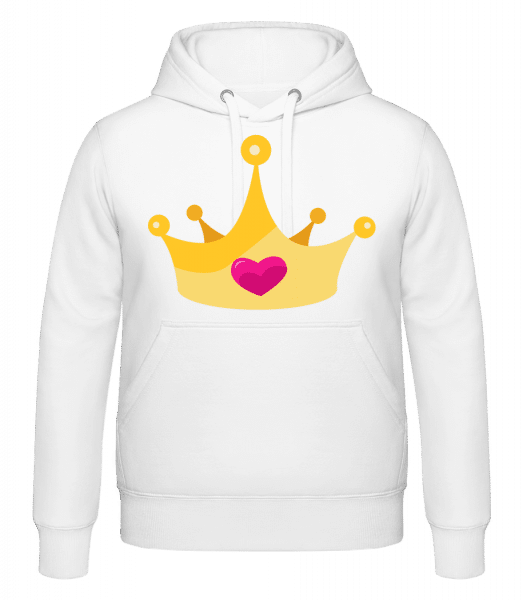 Princess Crown Yellow - Hoodie - White - Vorn