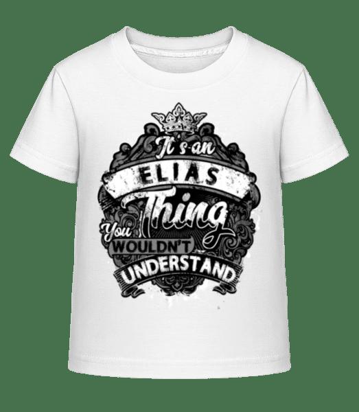 It's A Elias Thing - Kid's Shirtinator T-Shirt - White - Vorn