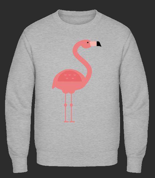 Flamingo Image - Classic Set-In Sweatshirt - Heather Grey - Vorn