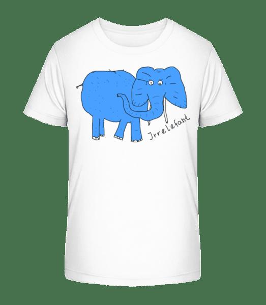 Irrelefant - Kinder Premium Bio T-Shirt - Weiß - Vorn