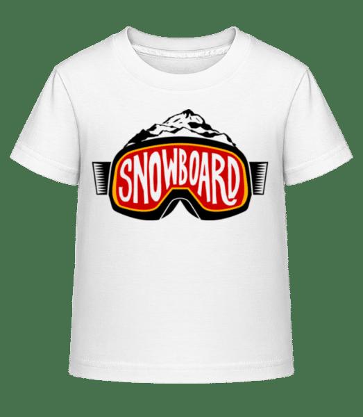 Snowboarding Logo - Kid's Shirtinator T-Shirt - White - Vorn