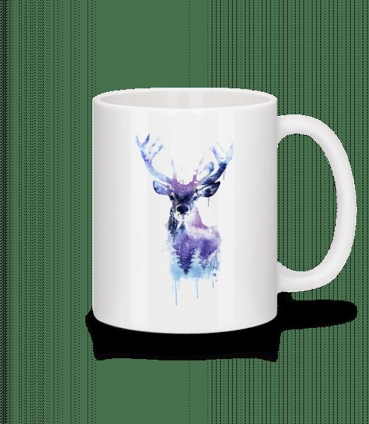Artistic Deer - Mug - White - Vorn