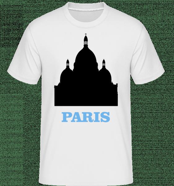 Paris Skyline -  Shirtinator Men's T-Shirt - White - Vorn