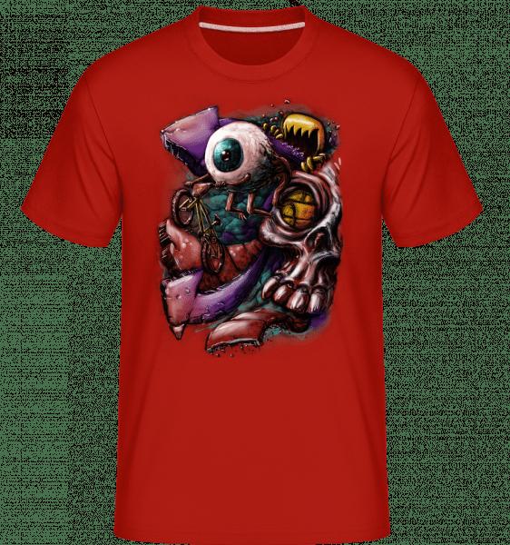 Let Eye -  Shirtinator tričko pro pány - Červená - Napřed