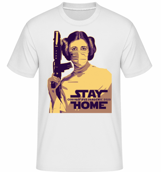 Stay Home Laila -  Shirtinator Men's T-Shirt - White - Front