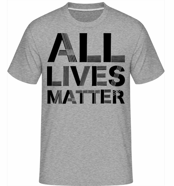 All Lives Matter -  Shirtinator Men's T-Shirt - Heather grey - Front