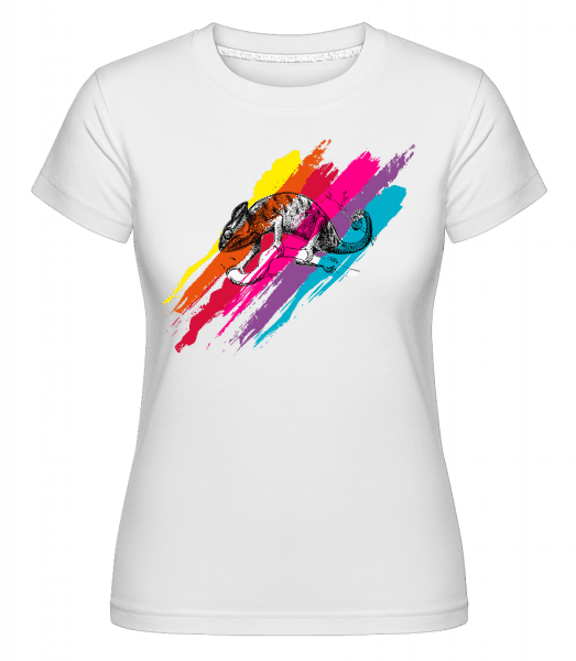 Multicolor Chameleon -  Shirtinator Women's T-Shirt - White - Vorn