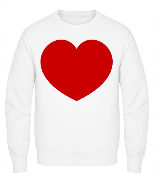 Heart - Classic Set-In Sweatshirt - White - Vorn