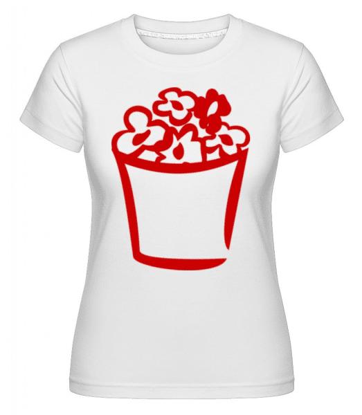 Flowers In Bag -  Shirtinator Women's T-Shirt - White - Front