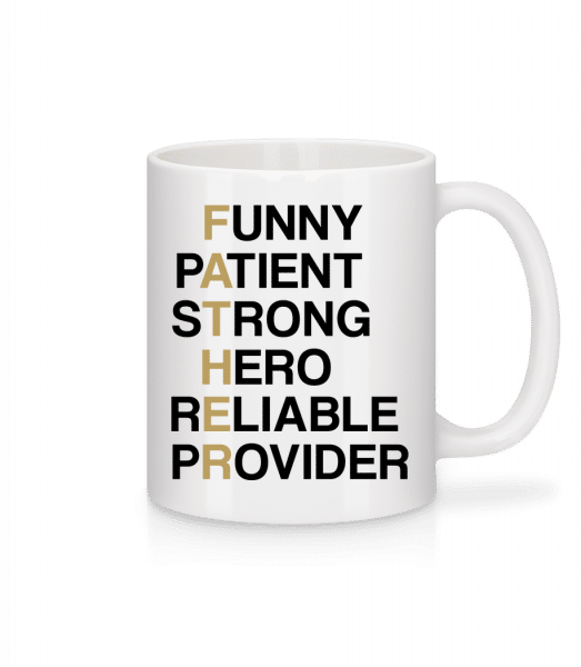 FATHER - Definition - Mug - White - Vorn