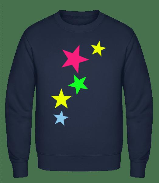 Colorful Stars - Classic Set-In Sweatshirt - Navy - Vorn