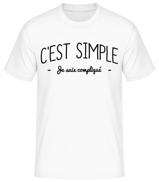 C'est Simple, Je Suis Compliqué - T-shirt standard Homme - Blanc - Devant