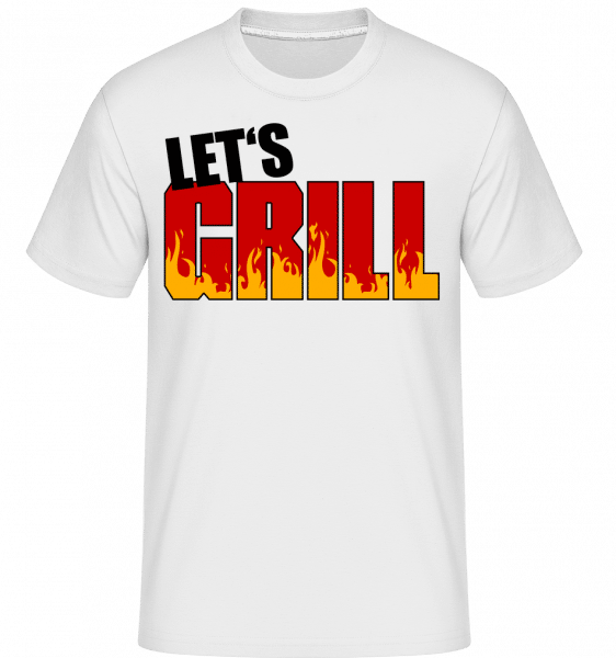 Let's Grill -  Shirtinator Men's T-Shirt - White - Front