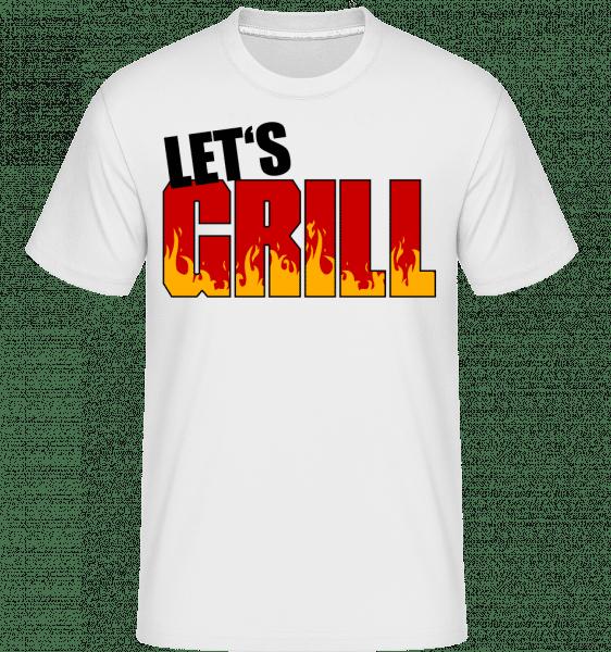 Poďme Grill -  Shirtinator tričko pre pánov - Biela - Predné
