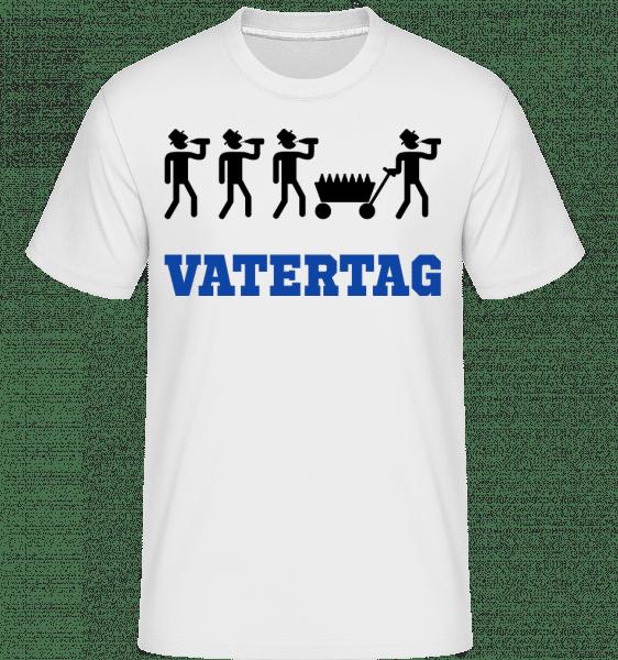 Vatertag Bollerwagen - Shirtinator Männer T-Shirt - Weiß - Vorn