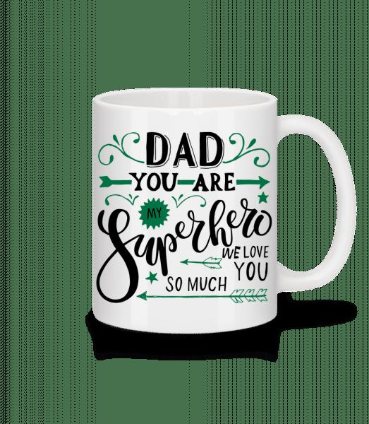 Táta You Are My Superhero - Keramický hrnček - Biela - Predné