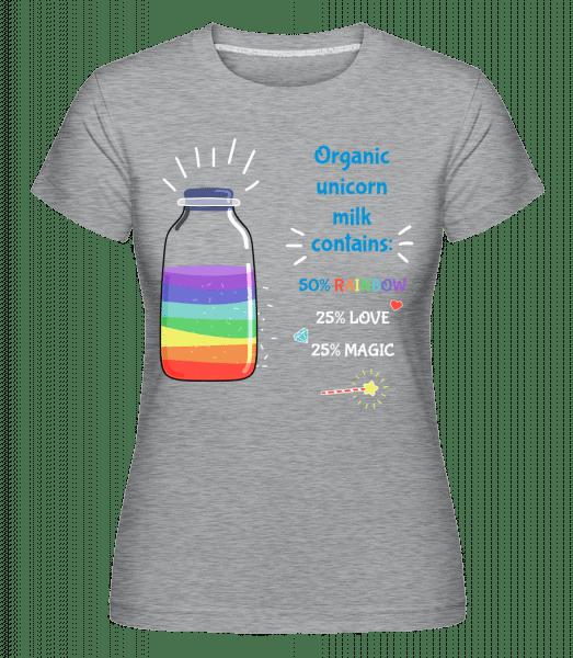 Organic Unicorn Milk -  Shirtinator tričko pro dámy - Melirovĕ šedá - Napřed