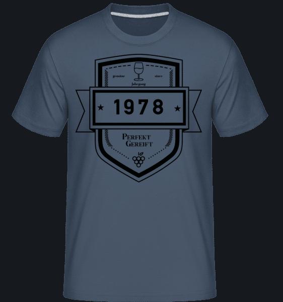 Perfekt Gereift 1978 - Shirtinator Männer T-Shirt - Denim - Vorn