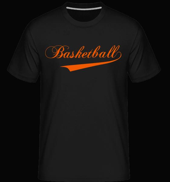 Basketball Schriftzug - Shirtinator Männer T-Shirt - Schwarz - Vorn