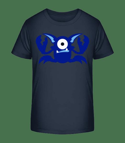 Crab Monsters - Kid's Premium Bio T-Shirt - Navy - Front