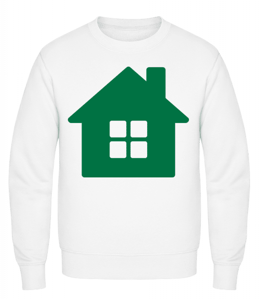 House Icon Green - Classic Set-In Sweatshirt - White - Vorn