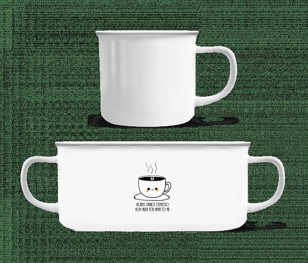 Words Cannot Espresso - Enamel-cup - White - Vorn