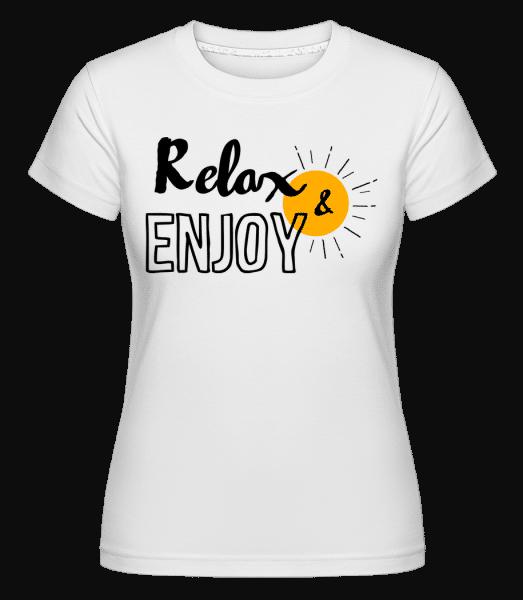 Relax Enjoy -  Shirtinator Women's T-Shirt - White - Vorn