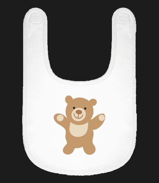 Kids Comic - Bear - Baby Bib - White - Vorn