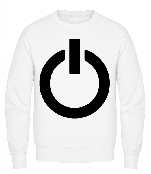 Battery Full Icon - Classic Set-In Sweatshirt - White - Vorn