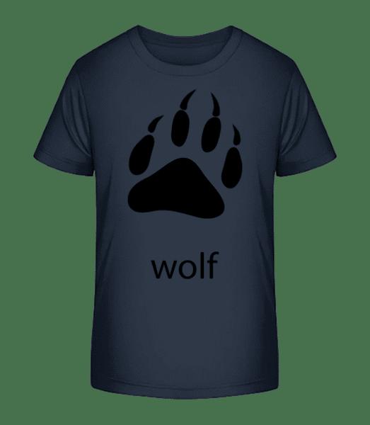 Wolf Paw - T-shirt bio Premium Enfant - Bleu marine - Vorn