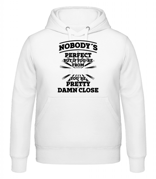 Nobody's Perfect But -  Kapuzenhoodie - Weiß - Vorn
