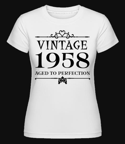 Vintage 1958 Perfection -  Shirtinator Women's T-Shirt - White - Vorn