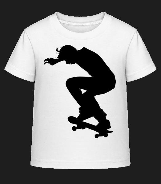 Skater Landing - Kid's Shirtinator T-Shirt - White - Vorn