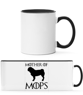 Mother Of Mops - Two-toned Mug - White - Vorn