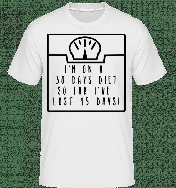 30 Days Diet -  Shirtinator tričko pro pány - Bílá - Napřed