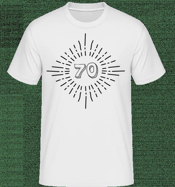70. narozeniny -  Shirtinator tričko pro pány - Bílá - Napřed