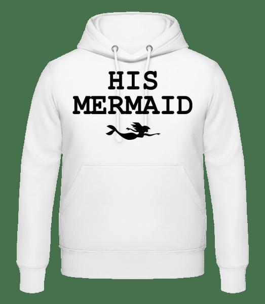 His Mermaid - Men's Hoodie - White - Vorn
