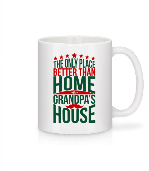 Grandpas House - Mug - White - Vorn