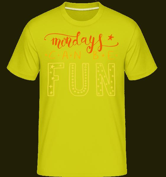 Mondays Can Be Fun -  Shirtinator Men's T-Shirt - Apple green - Vorn