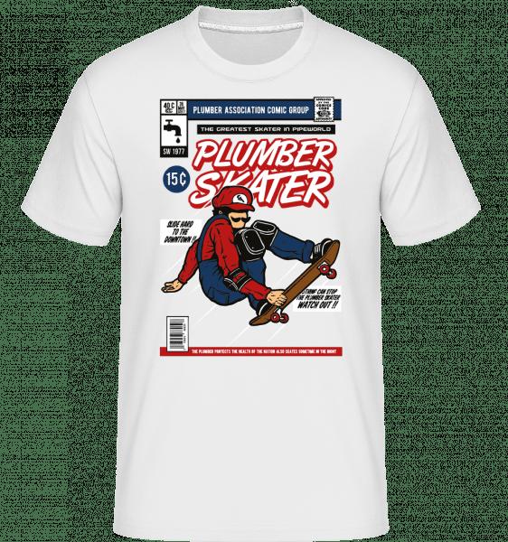Plumber Skater -  Shirtinator Men's T-Shirt - White - Vorn