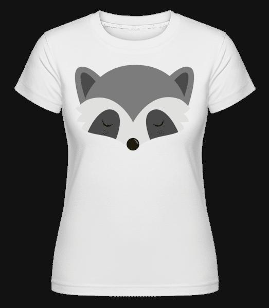 Racoon Comic -  Shirtinator Women's T-Shirt - White - Front