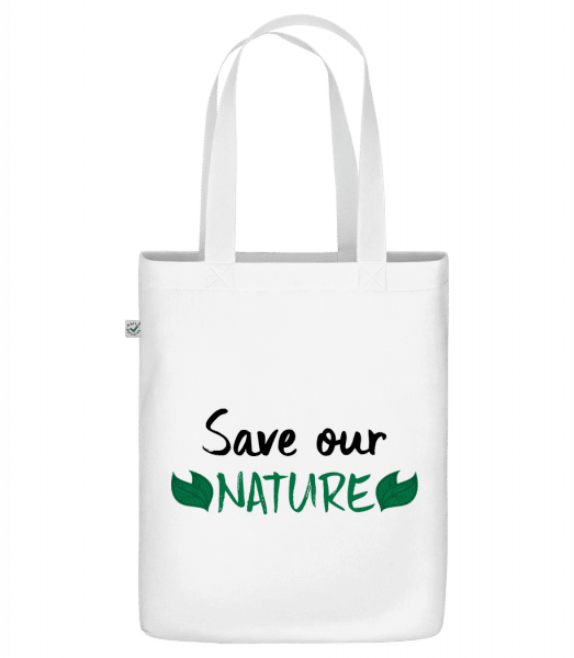 "Save Our Nature - Organic ""Earth Positive"" tote bag - White - Vorn"
