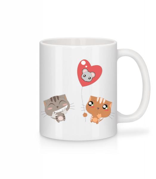 Cats Heart Balloon - Mug - White - Front