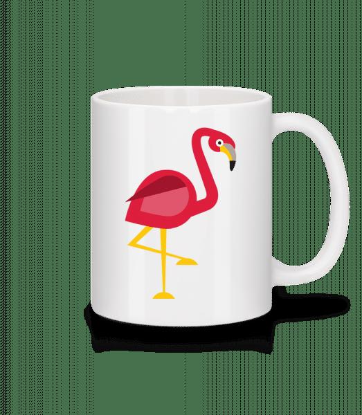 Flamingo Comic - Tasse - Weiß - Vorn