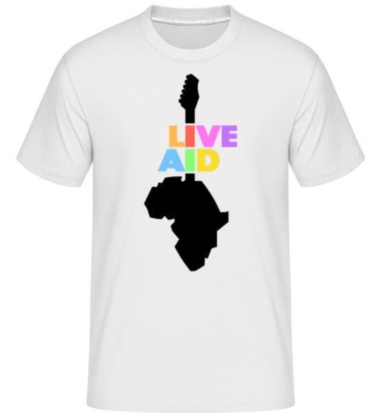 Live Aid -  Shirtinator Men's T-Shirt - White - Front