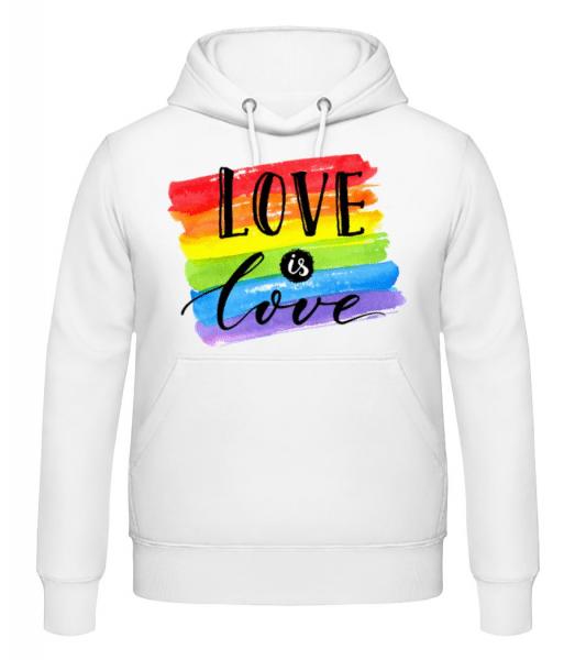 Love Is Love - Men's Hoodie - White - Front