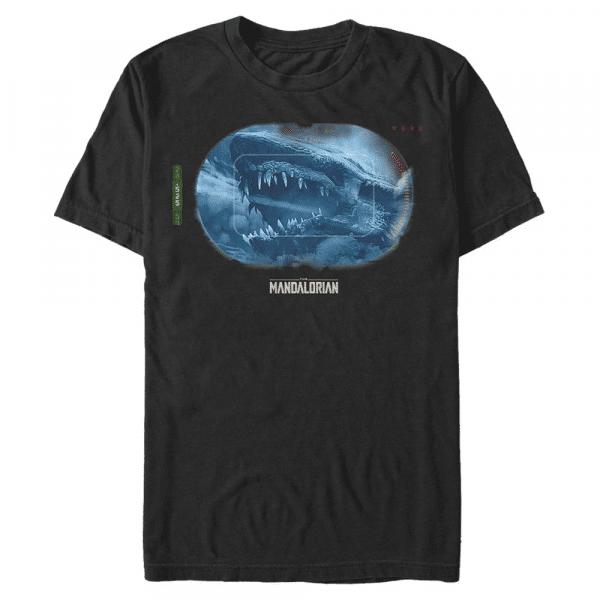 Dragon Targeted Krayt Dragon - Star Wars Mandalorian - Men's T-Shirt - Black - Front