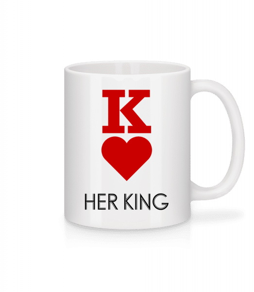 Her King - Mug - White - Vorn