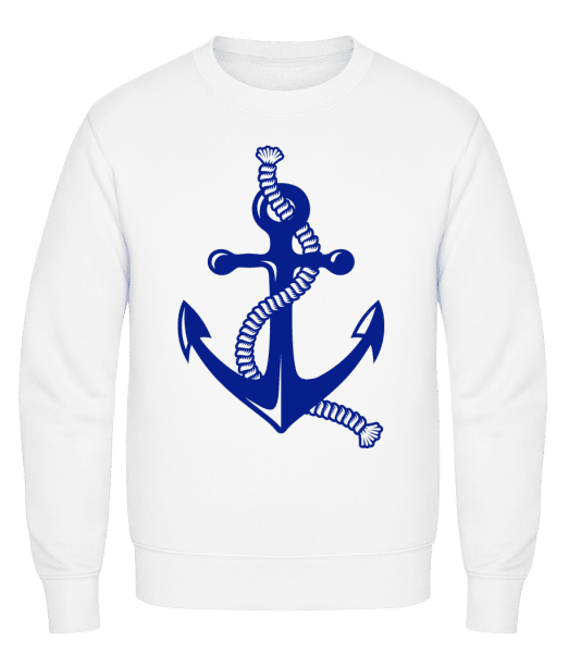 Anchor With Rope - Classic Set-In Sweatshirt - White - Vorn