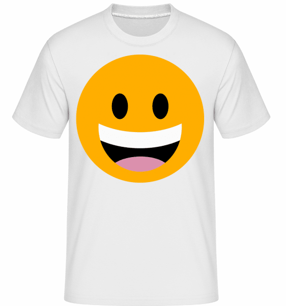 Laughing Smiley -  Shirtinator Men's T-Shirt - White - Vorn